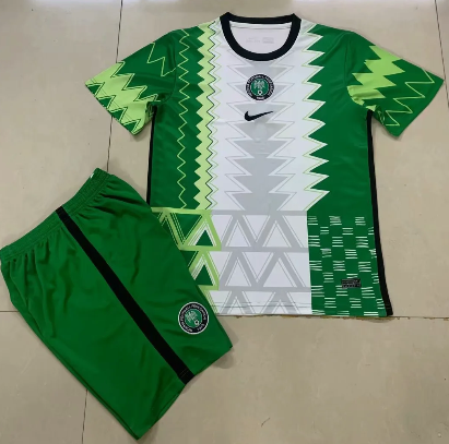 Nigeria 2020 Home Soccer Jersey and Short Kit