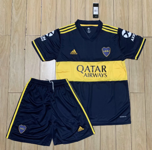 Boca Juniors 20/21 Home Soccer Jersey and Short Kit