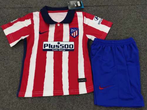 Atletico Madrid 20/21 Kids Home Soccer Jersey and Short Kit