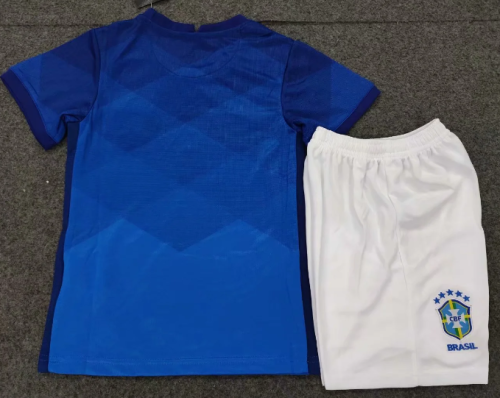 Brazil 2020 Kids Away Soccer Jersey and Short Kit