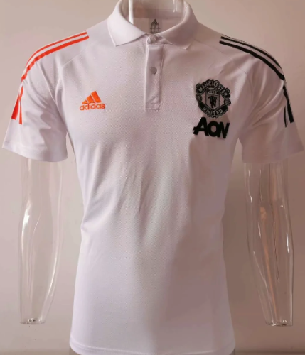Manchester United 20/21 Polo - White