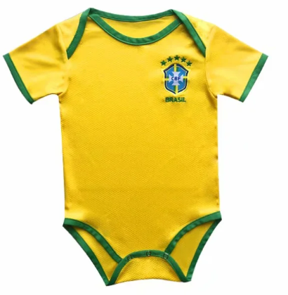 Brazil 2020 Home Kit Baby Bodysuits