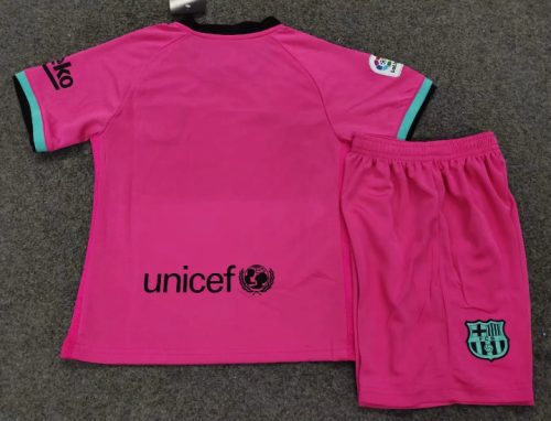 Barcelona 20/21 Kids Soccer Jersey and Short Kit - Pink