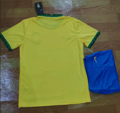 Brazil 2020 Home Soccer Jersey and Short Kit