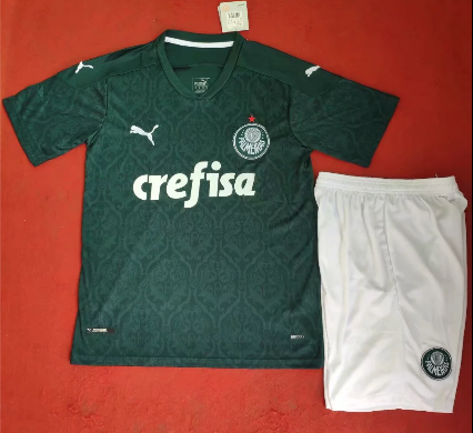 Palmeiras 20/21 Home Soccer Jersey and Short Kit