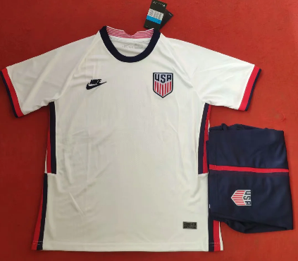 USA 2020 Home Soccer Jersey and Short Kit