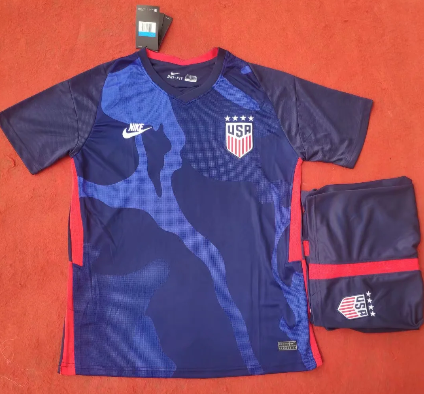 USA 2020 Away Soccer Jersey and Short Kit