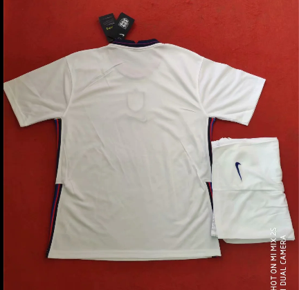 England 2020 Home Soccer Jersey and Short Kit