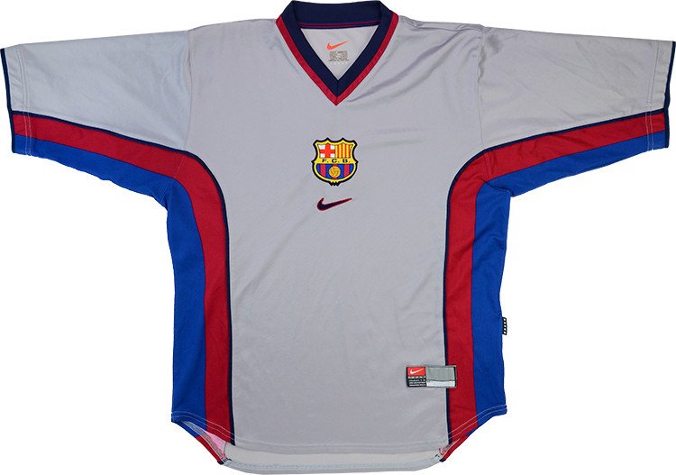 Barcelona 1998-2001 Away Retro Soccer Jersey