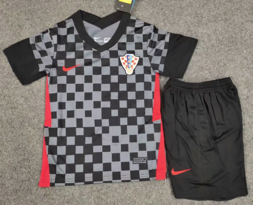 Croatia 2020 Kids Away Soccer Jersey and Short Kit