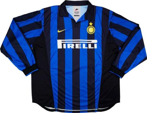 Inter Milan 1998/1999 Retro LS Home Soccer Jersey