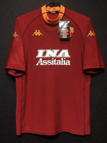 AS Roma 2000-2001 Home Retro Soccer Jersey