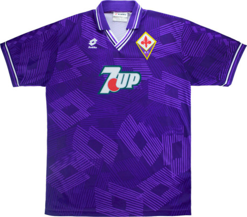 Fiorentina 1992/1993 Home Retro Soccer Jerseys