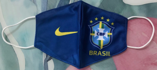 Brazil Face Mask - Blue