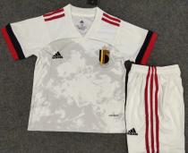 Belgium 2020 Kids Away Soccer Jersey and Short Kit