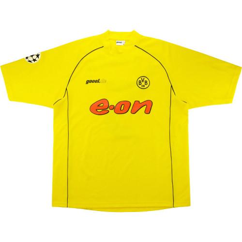 Borussia Dortmund 2002/03 Home Retro Soccer Jersey