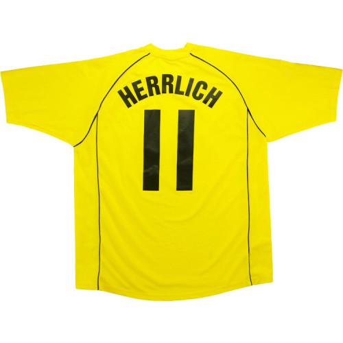 Borussia Dortmund 2002/03 Herrlich Home Retro Jersey