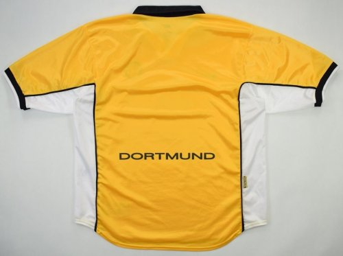 Borussia Dortmund 1998/00 Home Retro Soccer Jersey