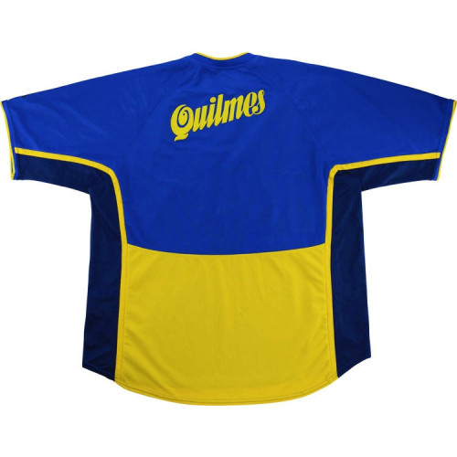Boca Juniors 2001-02 Home Retro Soccer Jersey