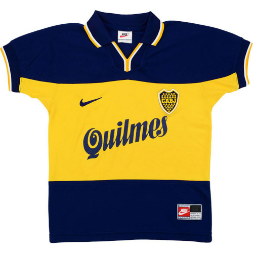 Boca Juniors 1998-99 Home Retro Soccer Jersey
