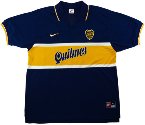 Boca Juniors 1996-97 Home Retro Soccer Jersey