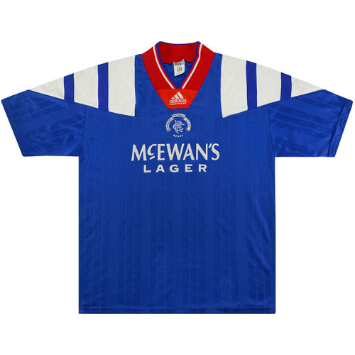 Rangers 1992/94 Home Retro Soccer Jersey
