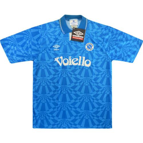 Napoli 1991-93 Home Retro Soccer Jersey