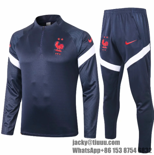 France 2020 Soccer Training Top and Pants - #B392