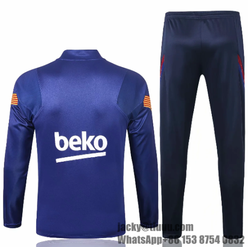 Barcelona 20/21 Soccer Training Top and Pants - #B393