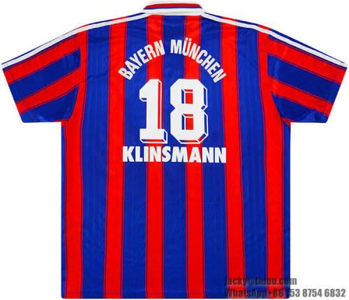 Bayern Munich 1995-97 Klinsmann Home Retro Jersey