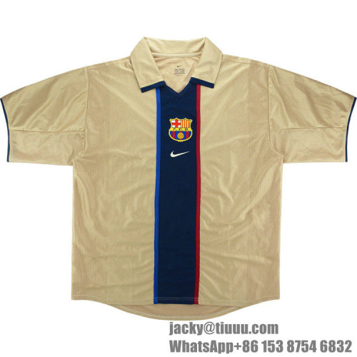 Barcelona 2001-2003 Rivaldo Away Retro Jersey