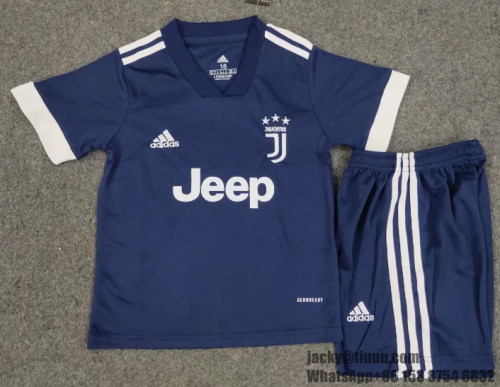 Juventus 20/21 Kids Soccer Jersey and Short Kit - Blue