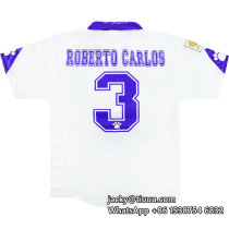 Real Madrid 1997-98 Roberto Carlos Home Retro Jersey