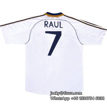 Real Madrid 1998-2000 Raul Home Retro Jersey
