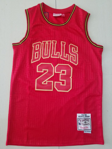 Chicago Bulls 1997-98 Michael Jordan 23 Red Throwback Classics Jerseys