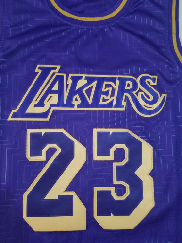 Los Angeles Lakers Lebron James  23 Purple Classics Basketball Jerseys