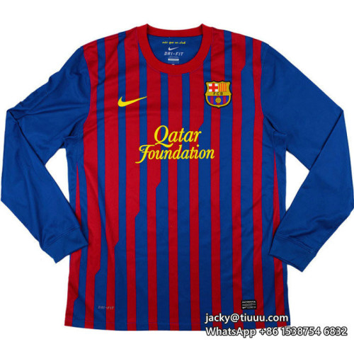 Barcelona 2011-2012 Messi Home Retro L/S Jersey