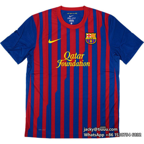 Barcelona 2011-2012 Messi Home Retro Jersey