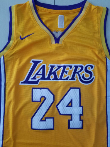 Los Angeles Lakers Kobe Bryant 24 Yellow Throwback Classics Basketball Jerseys