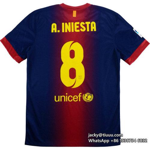 Barcelona 2012-2013 A.Iniesta Home Retro Jersey