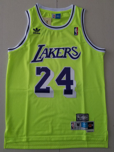 Los Angeles Lakers Kobe Bryant 24 Green Throwback Classics Basketball Jerseys