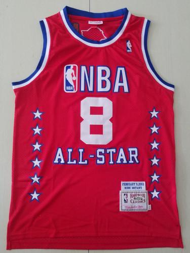 Kobe Bryant 8 Red 2003 All Star Throwback Classics Basketball Jerseys