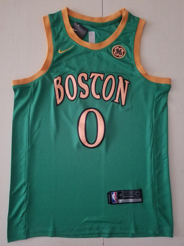 Boston Celtics Jayson Tatum 0 Green Classics Basketball Jerseys