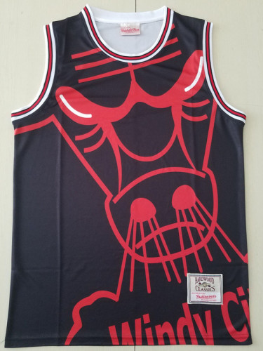 Chicago Bulls Black Throwback Classics Basketball Jerseys