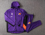 Phoenix Suns Purple Full-Zip trake Hoodie Jacket and Pants H027