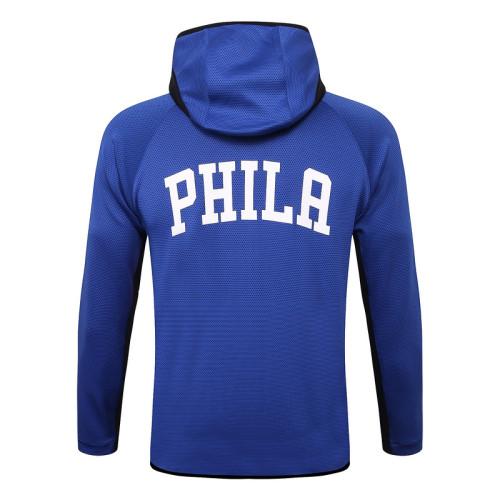 Philadelphia 76ers Blue Full-Zip trake Hoodie Jacket and Pants H010