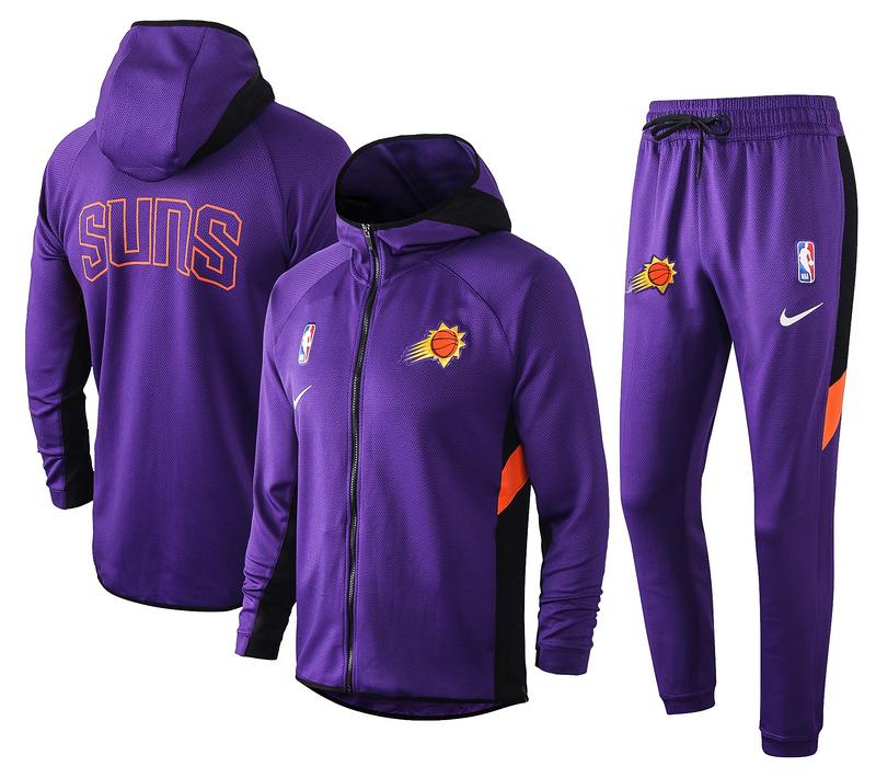 Phoenix Suns Purple Full-Zip trake Hoodie Jacket and Pants H027