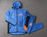 Milwaukee Bucks Blue Full-Zip trake Hoodie Jacket and Pants H009