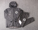 Los Angeles Clippers Gray Full-Zip trake Hoodie Jacket and Pants H018