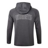 Charlotte Hornets Gray Full-Zip trake Hoodie Jacket and Pants H030
